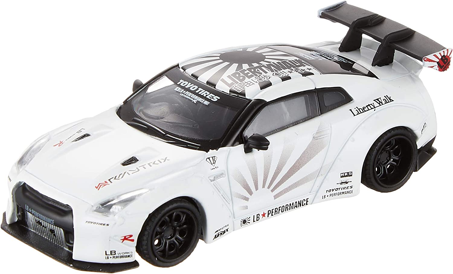 Mini GT LB Works Nissan GTR R35 Type 2 Rear Wing ver 3 White MGT00068 1//64