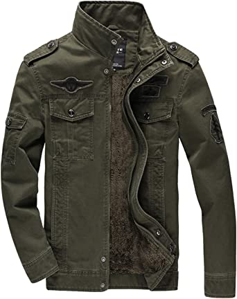 KEFITEVD Men's Winter Fleece Jacket Warm Cargo Stand Collar Military  Thicken Cotton Jackets Coat: Amazon.co.uk: Clothing