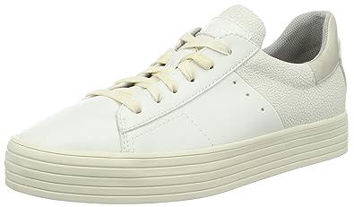 ESPRIT Damen Sidney Lace up Sneakers, Weiß (100 White), 37 EU