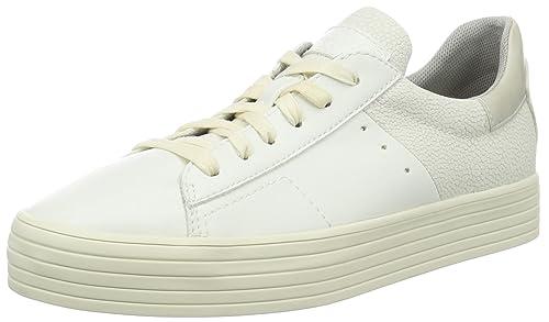 Esprit Sidney Lace Up, Zapatillas para Mujer, Blanco (100 White), 41 EU