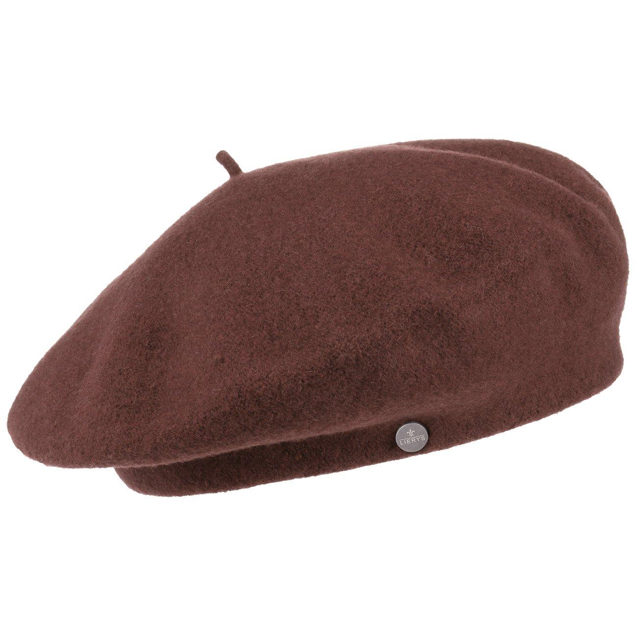 Lierys Ladies' Beret | New Wool Ladies' Beret for Autumn/Winter | One Size (ca. 55-59 cm) | Ladies' Wool Beret in French Woollen hat