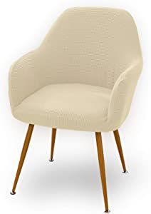 Accent Chair Slipcover,Stretch Removable Washable Accent Chair Protector Cover Seat Slipcover for Modern Swivel Accent Chair with Arms,Ivory