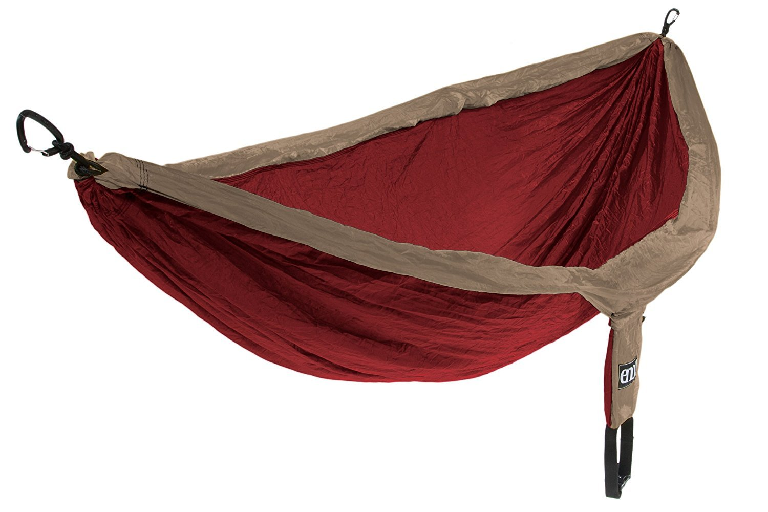 Eagles Nest Outfitters - DoubleNest Hammock with Insect Shield Treatment Khaki/Maroon [並行輸入品] B077QH37CQ