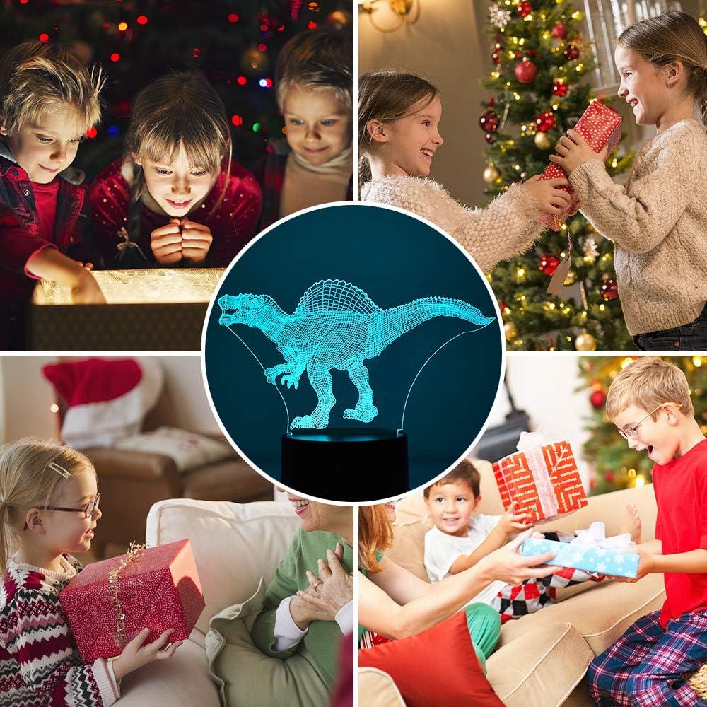 LetsGO Toyz Veilleuse 3D Dinosaure pour enfants