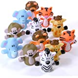 Rhode Island Novelty Zoo Animal Finger Puppets 1-Dozen