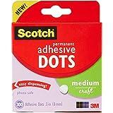 Scotch Brand Adhesive Dots, Medium, 300 Dots/Pack, Easy Dispensing, Permanent, Photo-Safe (010-300M)