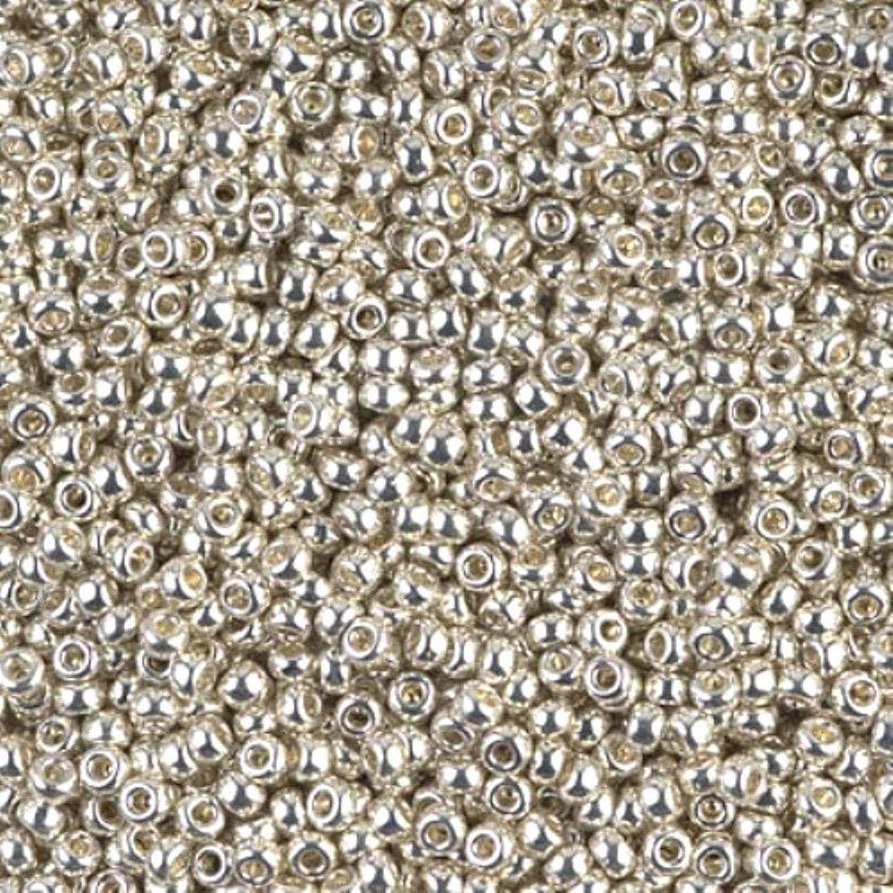 Miyuki Loose Beads, Galvanized Silver (Plated)