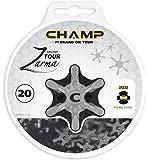 Champ Uni Golf Spikes Für Schuhe Champ Zarma Pin System - Kompatible Mit adidas Schuhen, Mehrfarbig