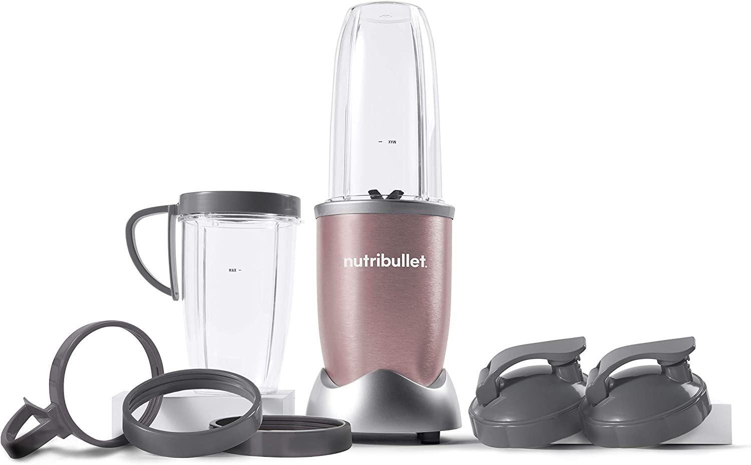 NutriBullet NB9-1301RG Pro 13 Pcs Rose Gold, 900W (Renewed)