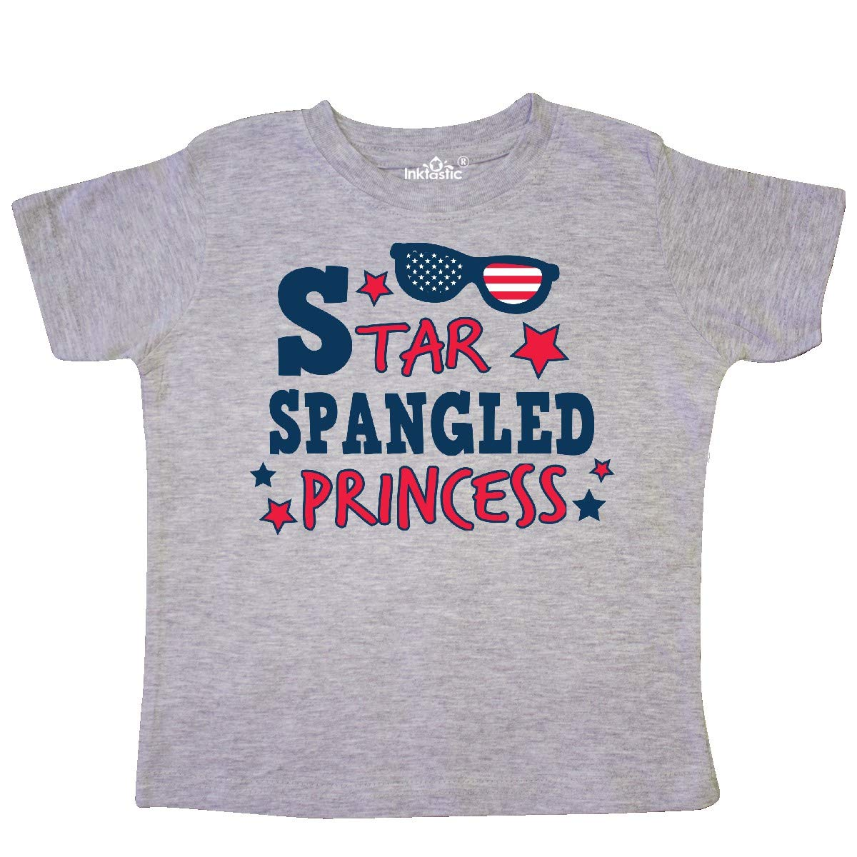 inktastic Star Spangled Princess with Sunglasses and Stars Toddler T-Shirt