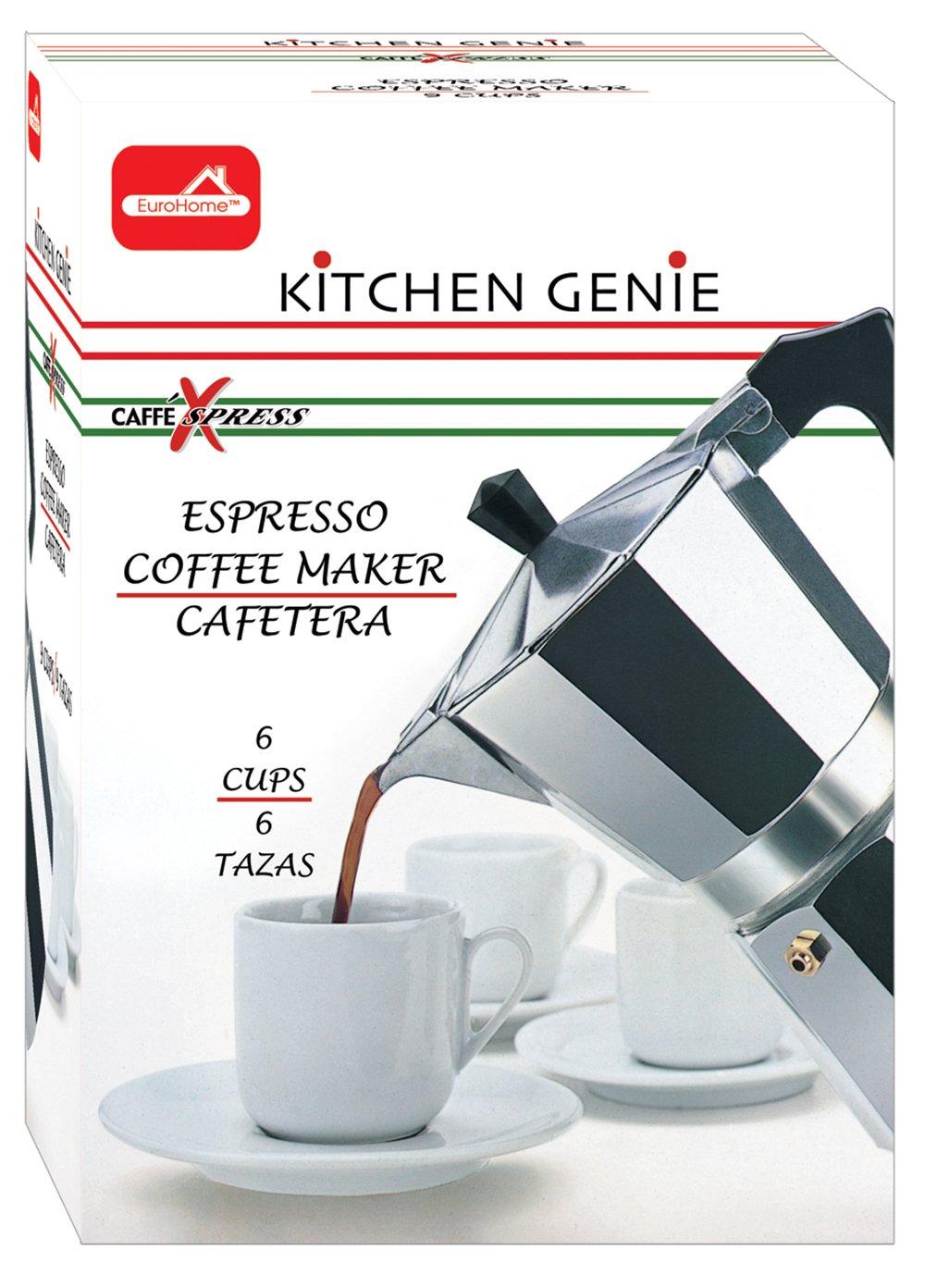 Euro-Home - CaffeXspress 6 Cup Aluminum Espresso Coffee Maker - Barista quality espresso maker. by Euro-Home (Image #2)