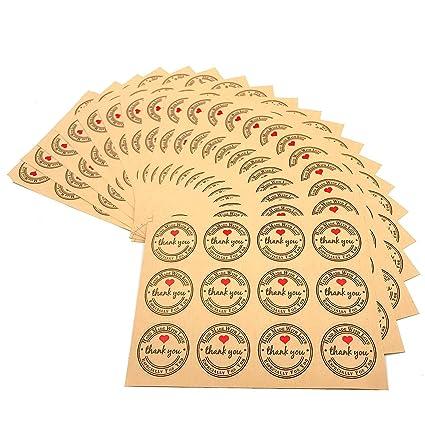 JZK 240 x Thank You etiqueta adhesiva kraft redondas etiquetas pegatina regalo para bolsa regalo Invitados boda aniversario fiesta de cumpleaños