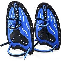 Zionor HP1 Swimming Hand Paddles for Swim Training Contoured Design Adjustable Strap