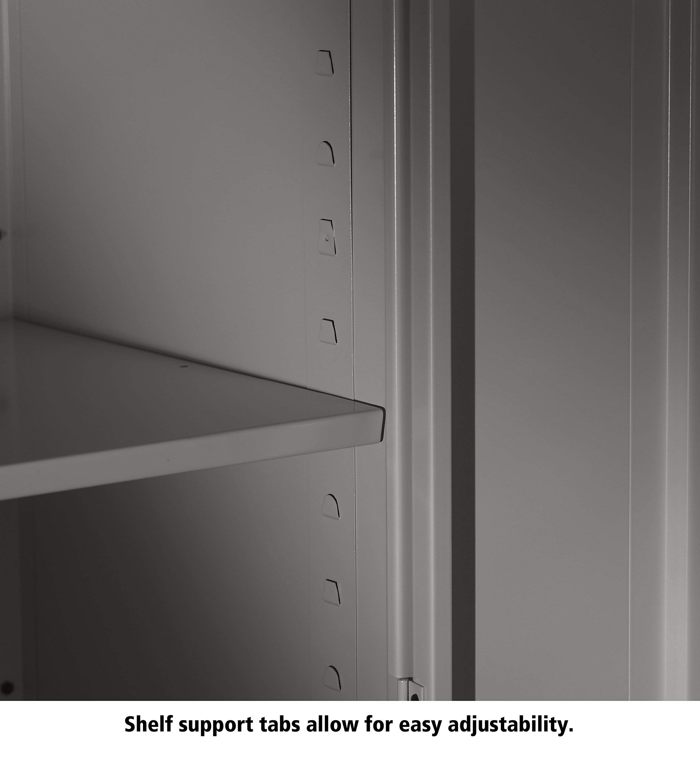 Tennsco 4218 24 Gauge Steel Standard Welded Counter High Cabinet, 2 Shelves, 150 lbs Capacity per Shelf, 36'' Width x 42'' Height x 18'' Depth, Black (Renewed) by Tennsco (Image #5)
