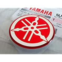 Yamaha Domed Badge Blue Chrome Fuel Tank Decal Sticker Racing 3D EFFECT 40mm