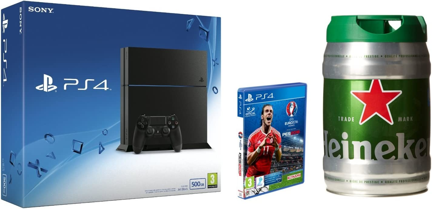 PlayStation 4 (PS4) - Consola 500GB + PES UEFA Euro 2016 + Barril ...