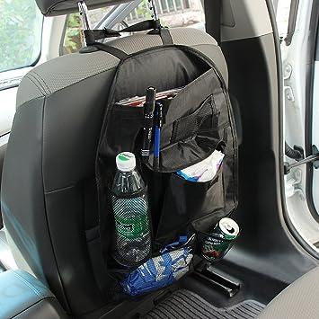 Auto asiento de atrás ordenado auto bolsa de almacenamiento Organizador de viajes, asiento de coche