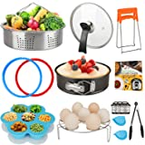Accessories Set Compatible with Instant Pot 6 QT, with Tempered Glass Lid Sealing Rings and Steamer Basket for Instapot…
