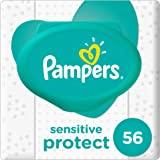 Pampers Sensitive Protect Baby Wipes, 56 Count
