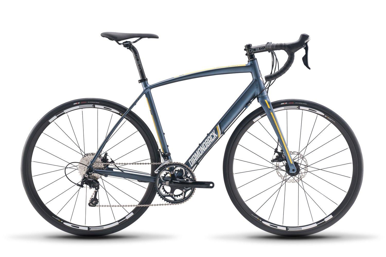 新しい2018 Diamondback世紀3 Completeロードバイク B077H71SX7ブルー 50cm
