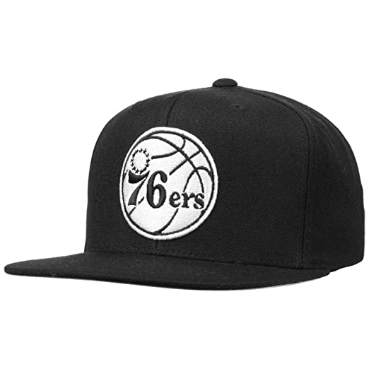 Mitchell & Ness Philadelphia 76ers 18155 Wool Solid Black White ...