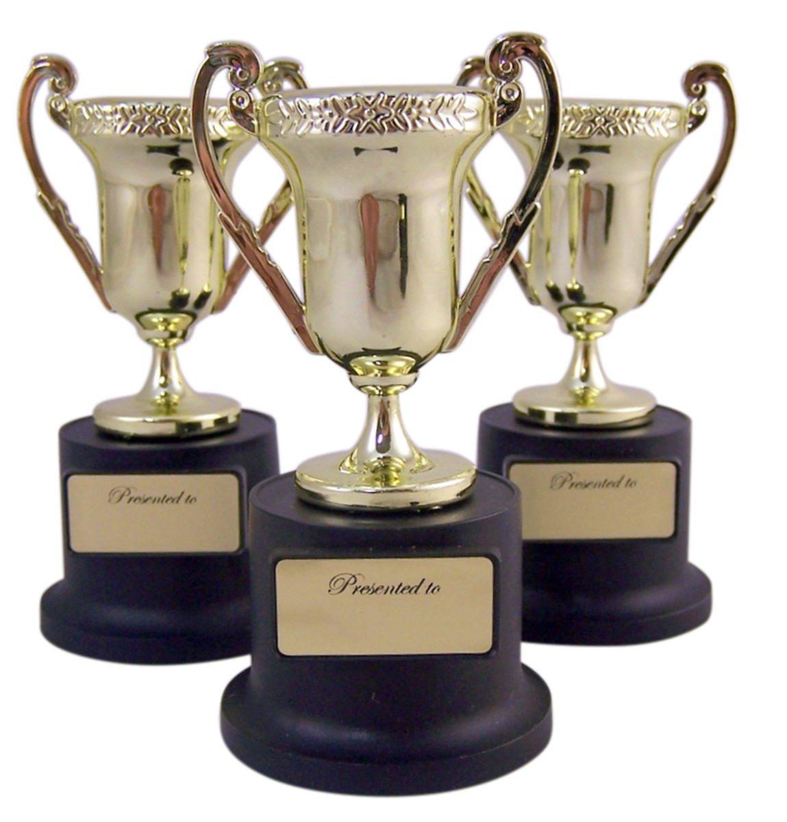 Forum Novelties 73318 スポーツアワードトロフィー 教師 子供用 カップパーティー用品 5インチ ゴールド/ブラック 24個パック B076M5MSN8