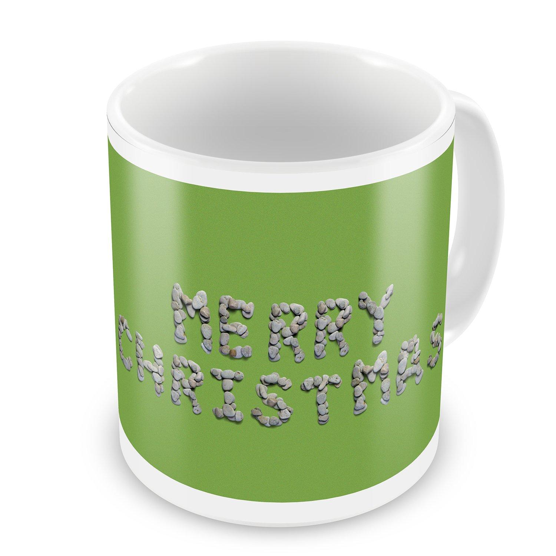 Coffee Mug Merry Christmas Spa Stones - NEONBLOND