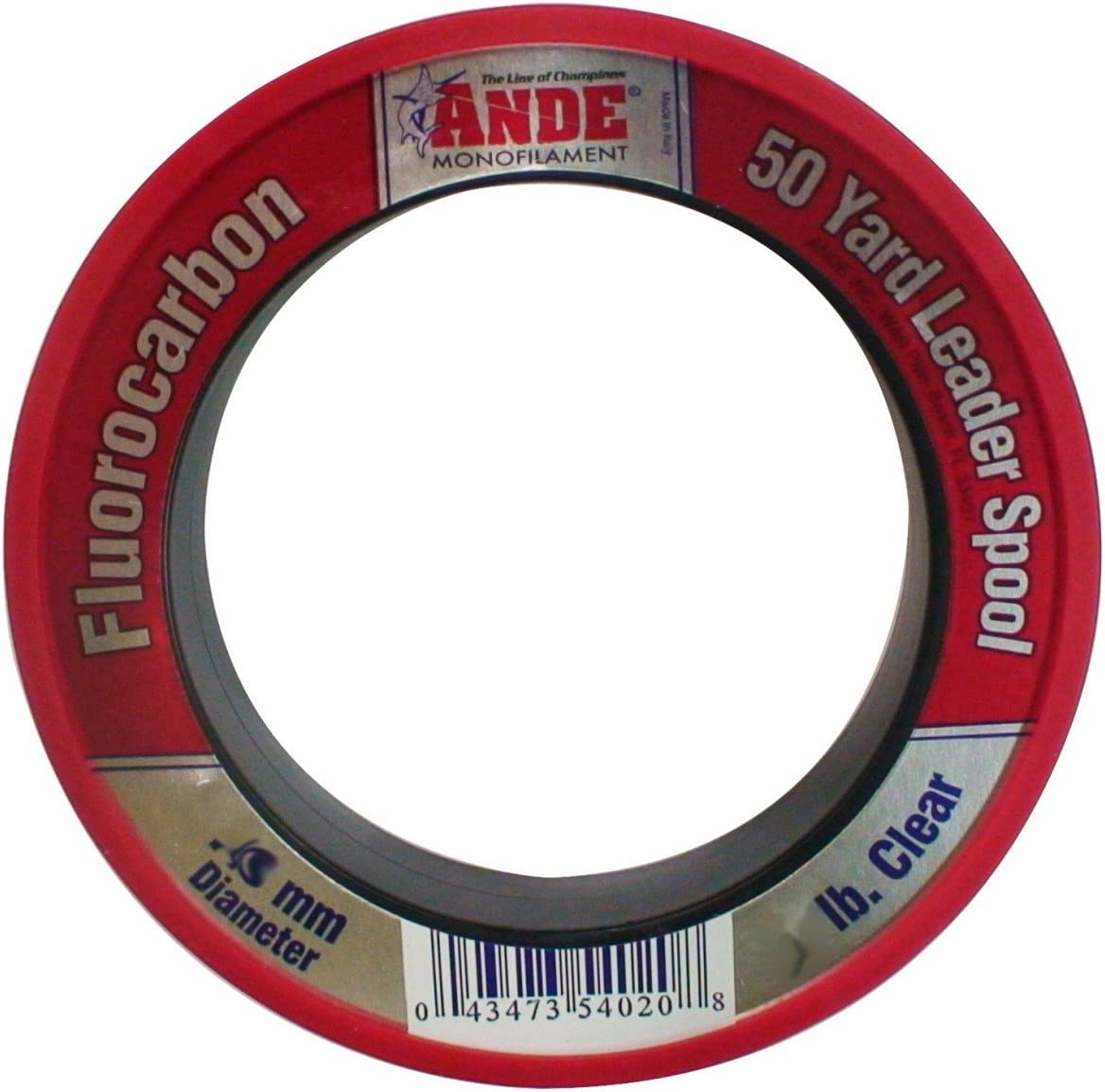 ANDE FPW-50-40 Fluorocarbon Leader Material, 50-Yard Spool, 40-Pound Test, Pink Finish