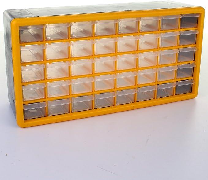 30 Orange Drawer Storage Garage Organiser Screws Nuts Bolts Bit And Bobs Box