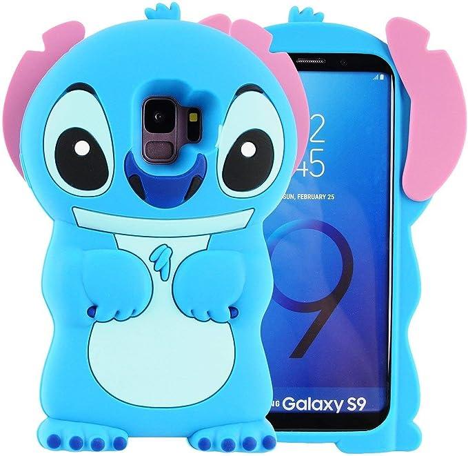 Coque pour Samsung Galaxy S9, motif dessin animé 3D en caoutchouc de silicone doux et souple Motif Kawaii
