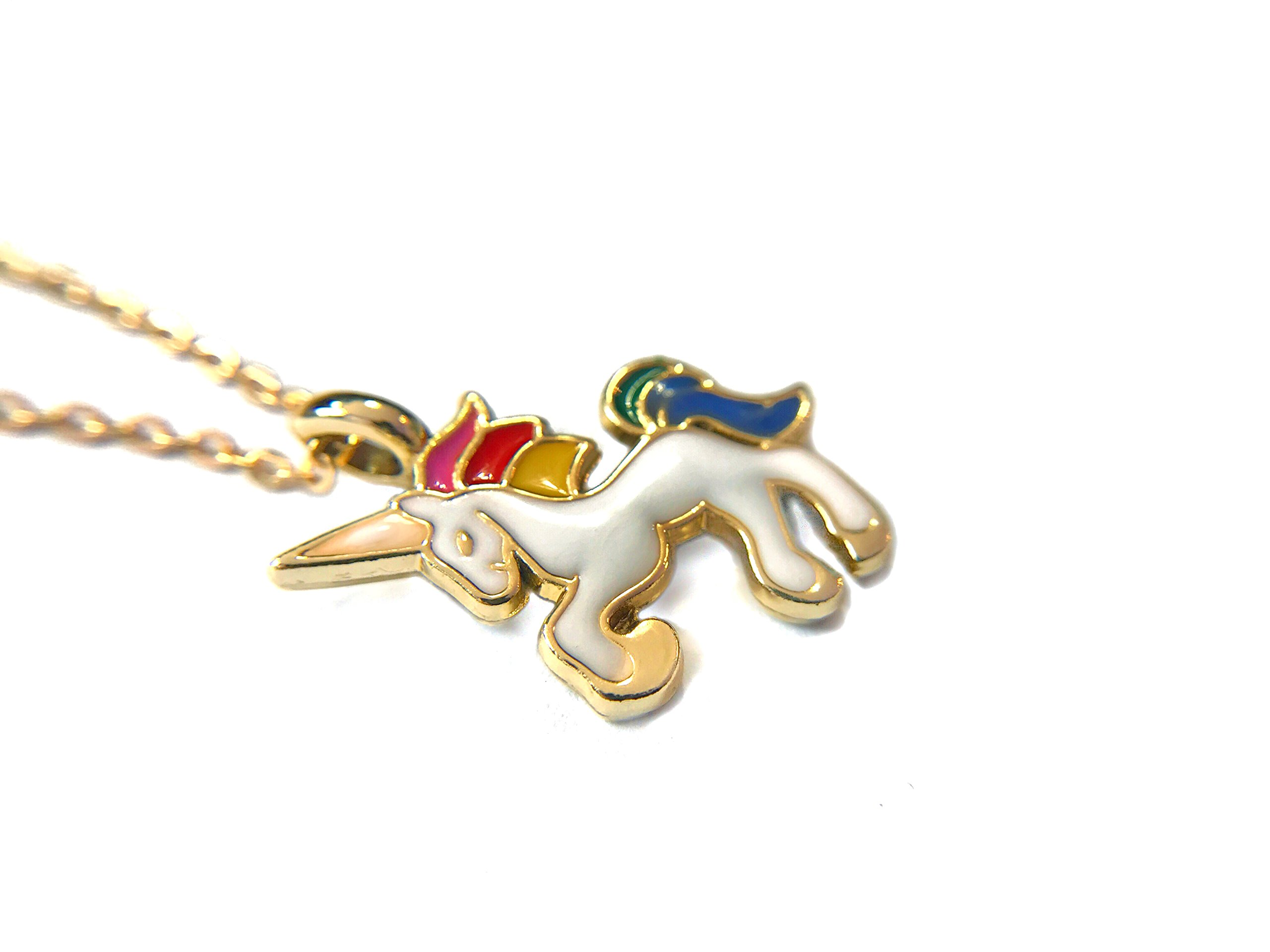 Altitude Boutique Unicorn Necklace Magical Pendant Gift for Girls or for Women Gold Silver Colorful Enamel 5