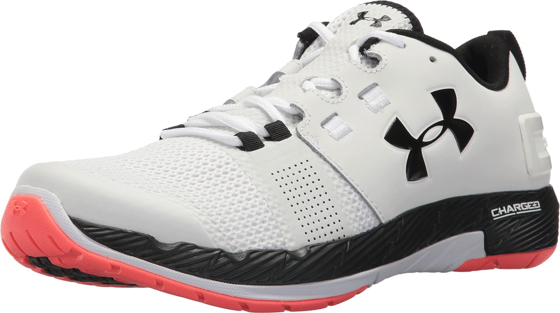 new product bbf98 18fb1 Under Armour Men's UA Commit TR White/Marathon Red/Black 9 D US