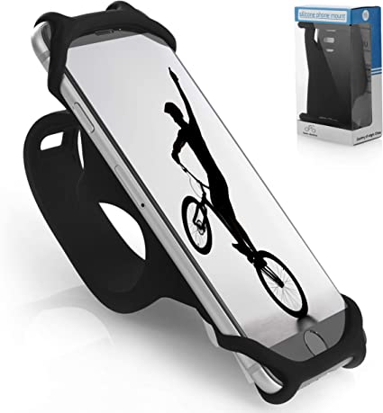 6 Samsung Series and More Premium Bike Phone Mount Made of Durable Non-Slip Silicone Mobile Cellphone Holder//Universal Cradle for All Bicycle Handlebars and 99/% of Smartphones: iPhone 8 5 7