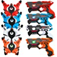 VATOS Infrared Laser Tag Gun Set for Kids Adults with Vests 4 Pack,Laser Tag Game 4 Players Indoor Outdoor,Laser Tag Blaster,