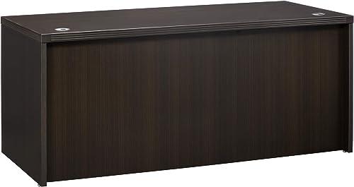 Mayline Aberdeen 60 W x 30 D Straight Front Rectangle Desk, Mocha Tf