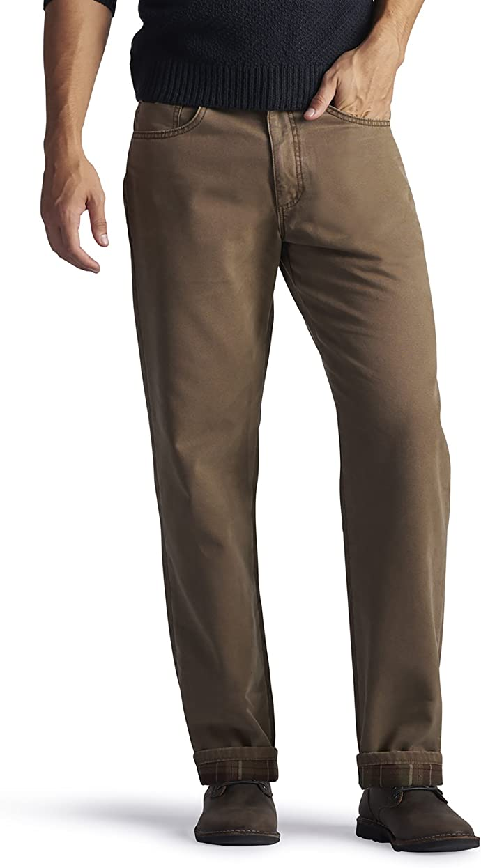 LEE 李牌 加绒保暖 男式宽松直筒牛仔裤 优惠券折后$17.27 海淘转运到手约¥167
