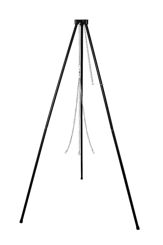 a tre gambe Supporto per grill girevole in colore argento orientabile,senza griglia