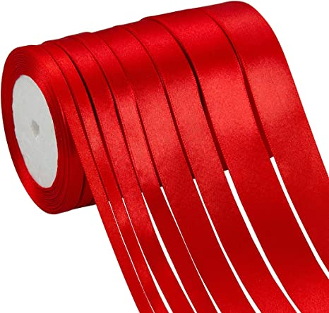 Merry Christmas Ribbon Red or Gold Full 25m Rolls