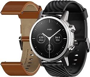 Motorola Moto 360 3rd Gen Smartwatch - Stainless Steel Case With 20mm Bands, All-day Battery, & WearOs Steel Grey
