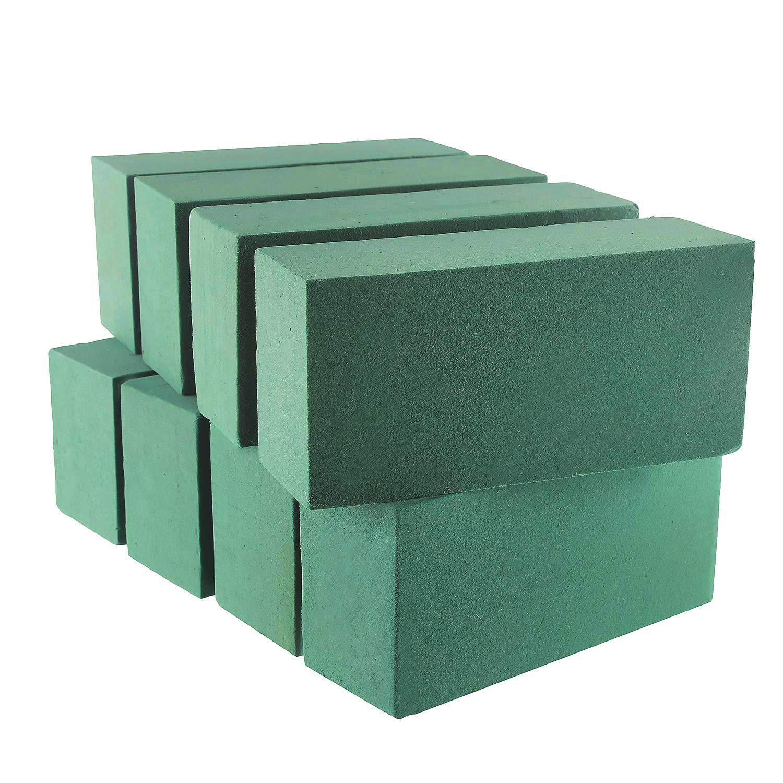 VEYLIN 8 PCS Wet Floral Foam Bricks Green Styrofoam Blocks for Fresh Cut Floral Arrangements