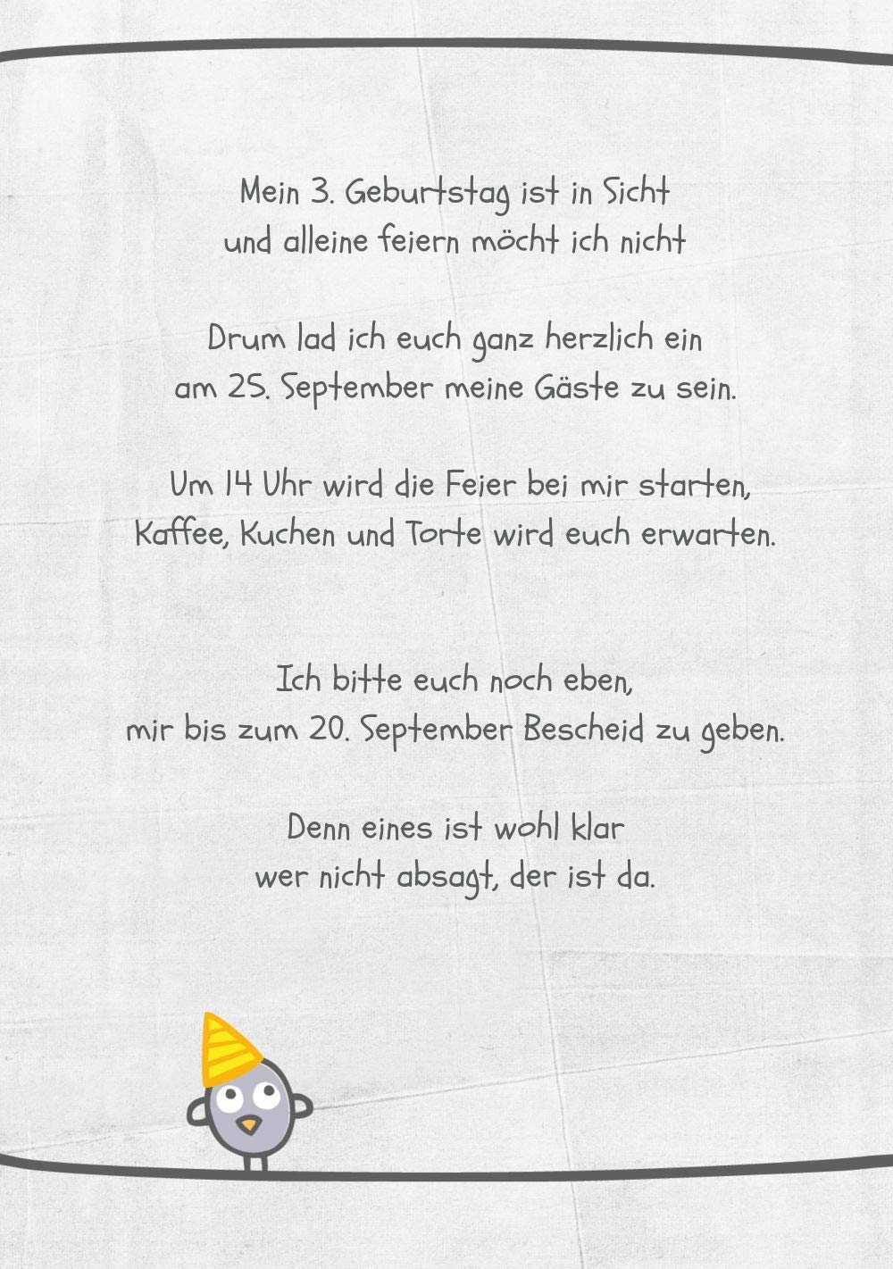 Einladung zum Geburtstag Vogelfest, 10 10 10 Karten, HellgrauLila B07L19KHDP   Verrückter Preis    Kunde zuerst    Deutschland München  9b5b7f