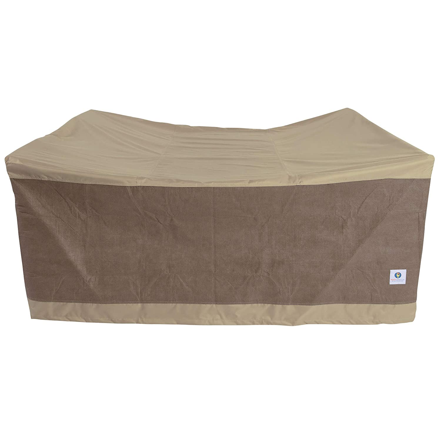 Duck Covers Elegant Square Patio Table & Cover, Fits Outdoor and Chair Sets 76 Long LTS07676