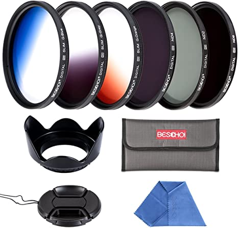 P/étalo Parasol K/&F Concept 52MM Kit Packs de Filtro UV Filtro Polarizador Filtro Densidad Neutra para Objetivo C/ámara Canon Nikon Sony Bolsa de Filtro 52MM UV CPL ND4 Tapa del Objetivo Pluma de Limpieza