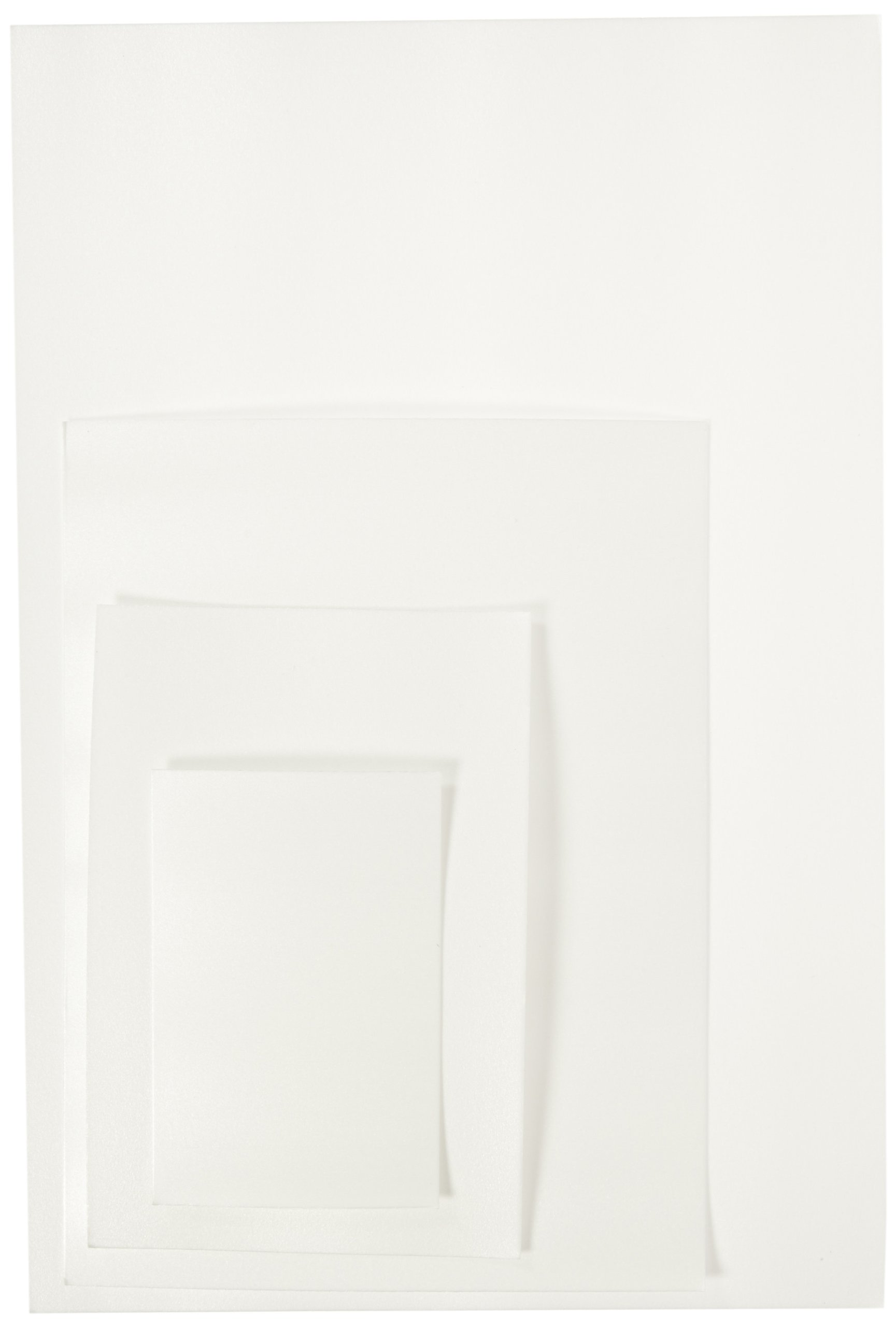 Sax Foam Printing Plates Classroom Pack - Assorted Sizes - Set of 304 - White