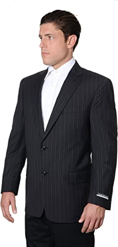 Austin Reed Mens Pure Wool Striped Suit Separate Coat Extra Long Black At Amazon Men S Clothing Store