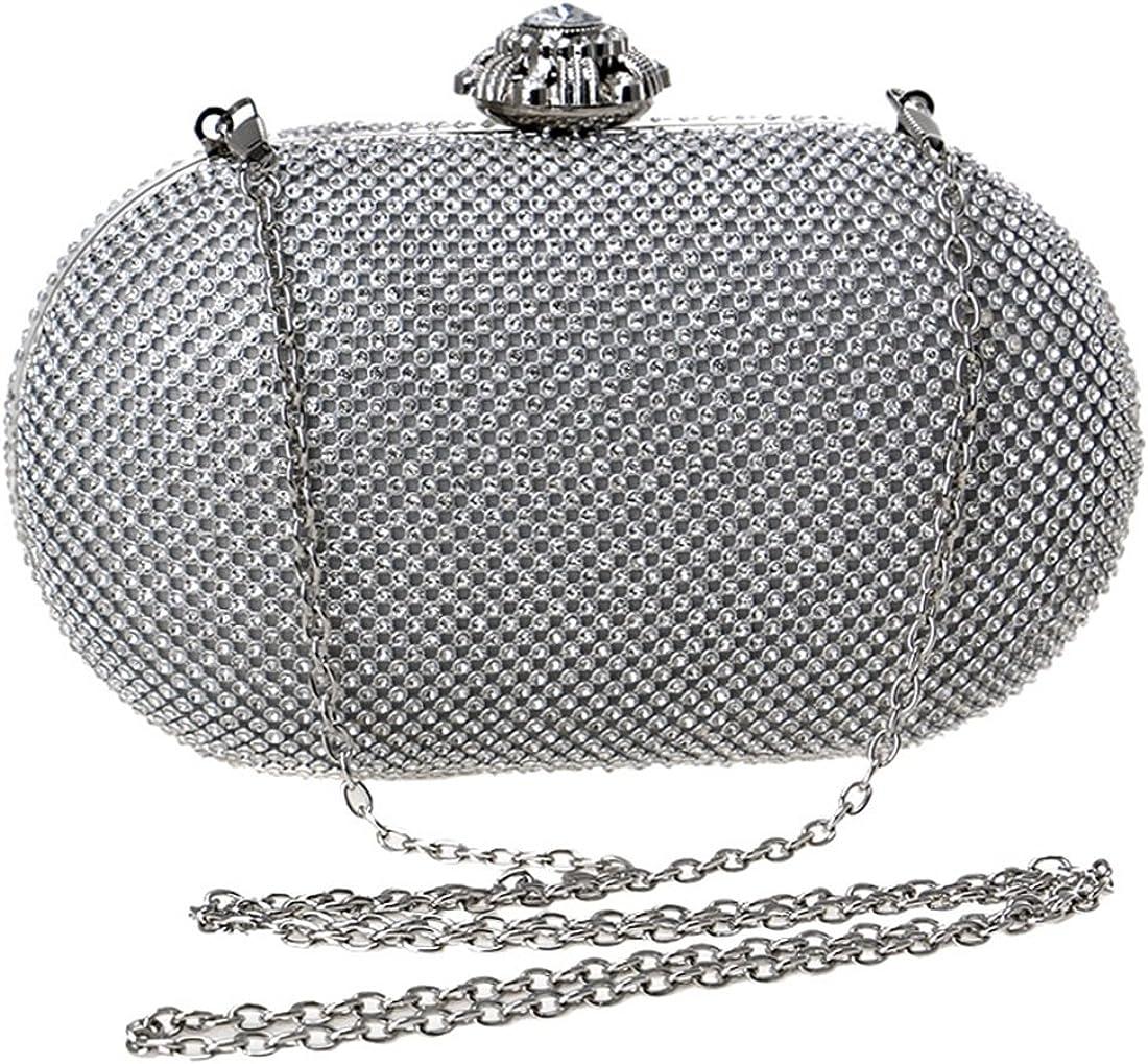 Carriemeow Womens Diamond Handbag Ladies Banquet Clutch Purse Hand-held Evening