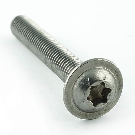 Eisenwaren2000 M8 x 16 mm Linsenkopfschrauben mit Innensechskant Gewindeschrauben rostfrei Edelstahl A2 V2A - ISO 7380 Linsenkopf Schrauben mit Flachkopf 100 St/ück