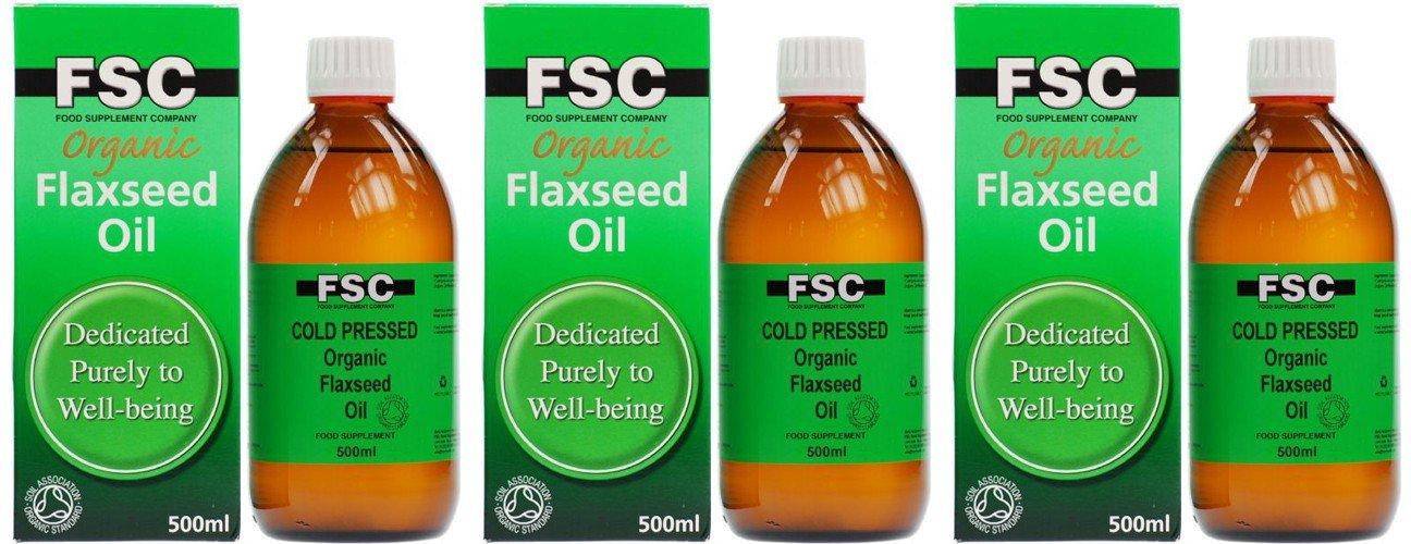 (3 PACK) - FSC - Organic Flaxseed Oil   500ml   3 PACK BUNDLE