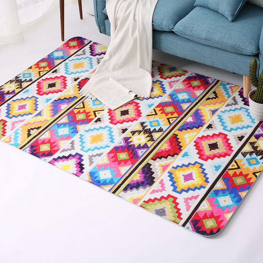 カーペット寝室居間近代的なミニマリストの四角い色の幾何学的な敷物 ( サイズ さいず : 150*200cm ) 150*200cm  B078BRLM86