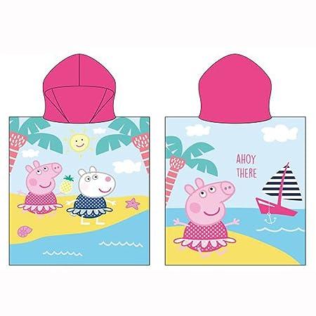 Peppa Pig Paddle Hooded Poncho Towel Amazon Co Uk Kitchen Home